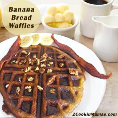 Banana Bread Waffles | 2CookinMamas