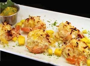 Coconut Shrimp with Mango Salsa by 2CookinMamas