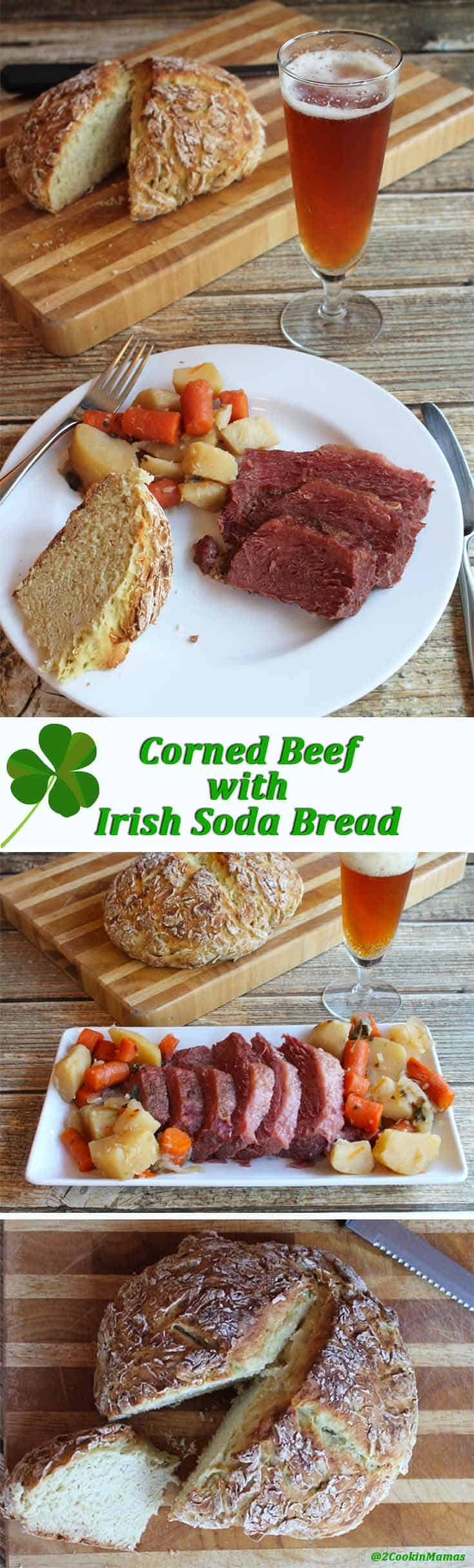 Corned Beef and Irish Soda Bread   2CookinMamas Corned beef in the crockpot is so easy - set it and forget it and come home to a fully cooked dinner. Add quick soda bread to make it perfect for St. Patrick's Day!