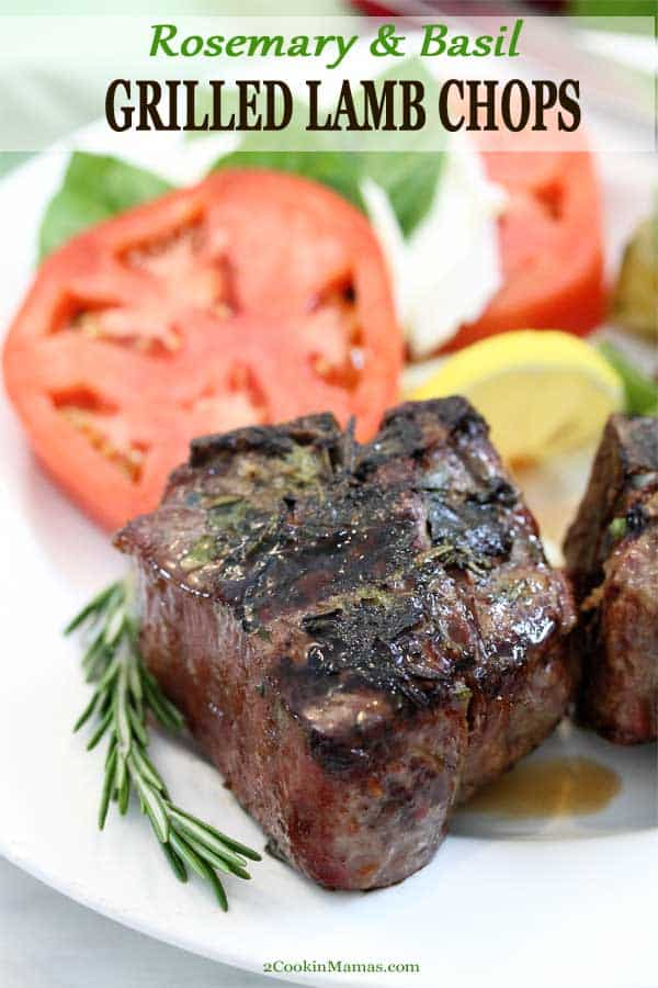 Rosemary Basil Grilled Lamb Chops
