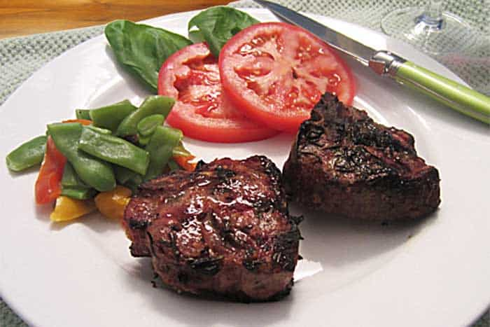 Rosemary Grilled Lamb Chops wide