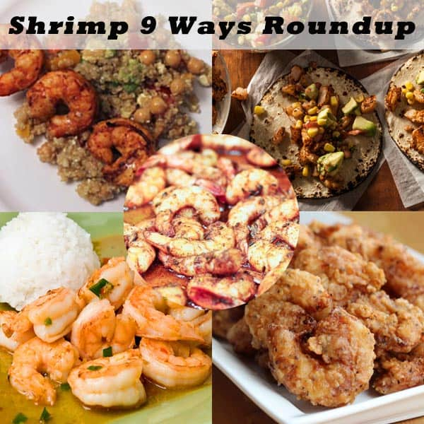 Shrimp 9 Ways Roundup - Grilled, baked, fried,curried, blackened just about any way you can fix shrimp we got you covered!