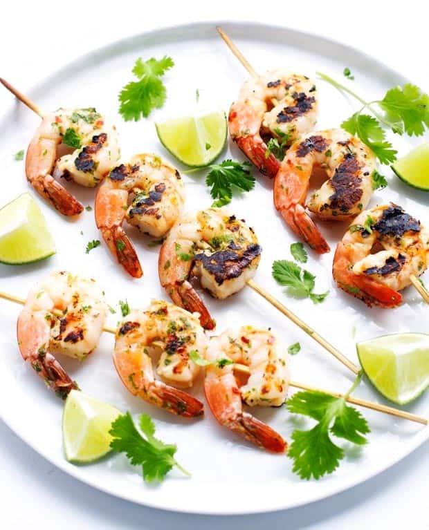 grilled cilantro lime shrimp by little spice jar