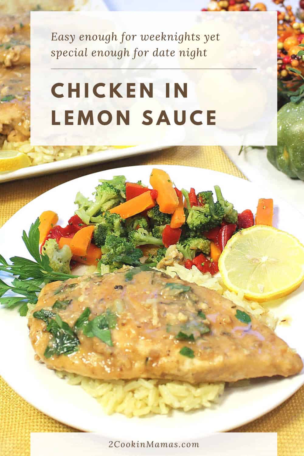 One Skillet Chicken with Lemon Sauce