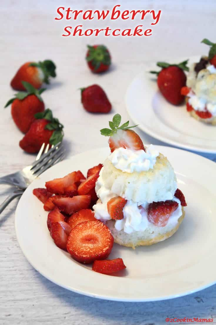 Nothing is more delicious than a light as air cake topped with sweet strawberries & cream. Except maybe a cute mini bundt strawberry shortcake! #dessert #strawberryshortcake #strawberry
