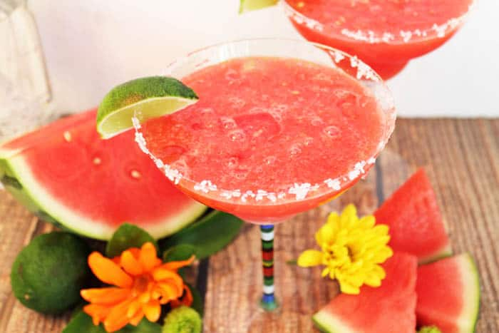 Watermelon Margarita closeup 2 | 2 Cookin Mamas