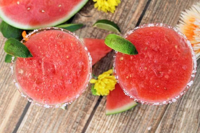 Watermelon Margarita overhead | 2 Cookin Mamas