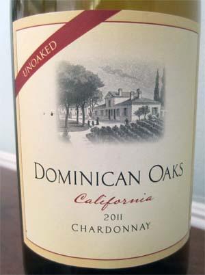 2011 Dominican Oaks Chardonnay