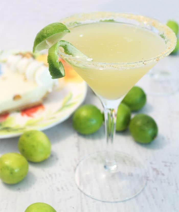 Key Lime Pie Martini single | 2 Cookin Mamas