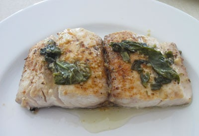 Mahi Mahi with Basil Butter