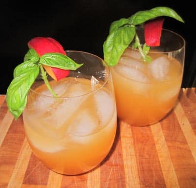Mango Basil Wine Cocktail