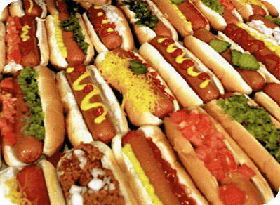 variety of hot dogs
