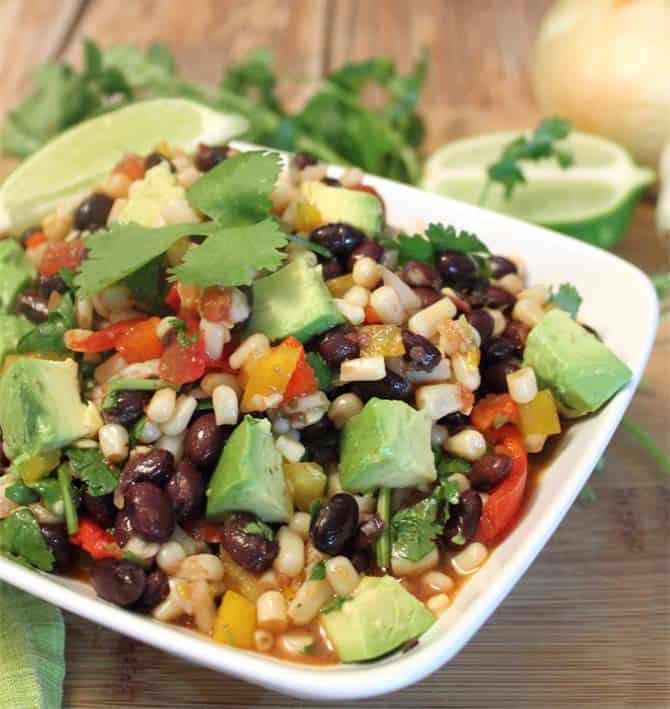 Black Bean Salad closeup|2CookinMamas