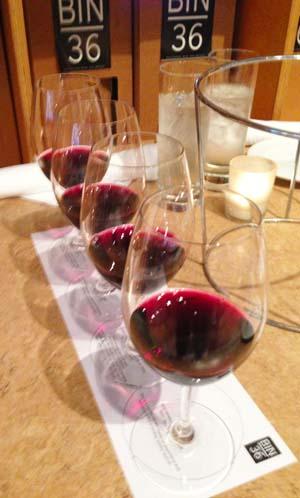 Bin 36 Wine Flight