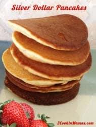 silver dollar pancakes | 2CookinMamas