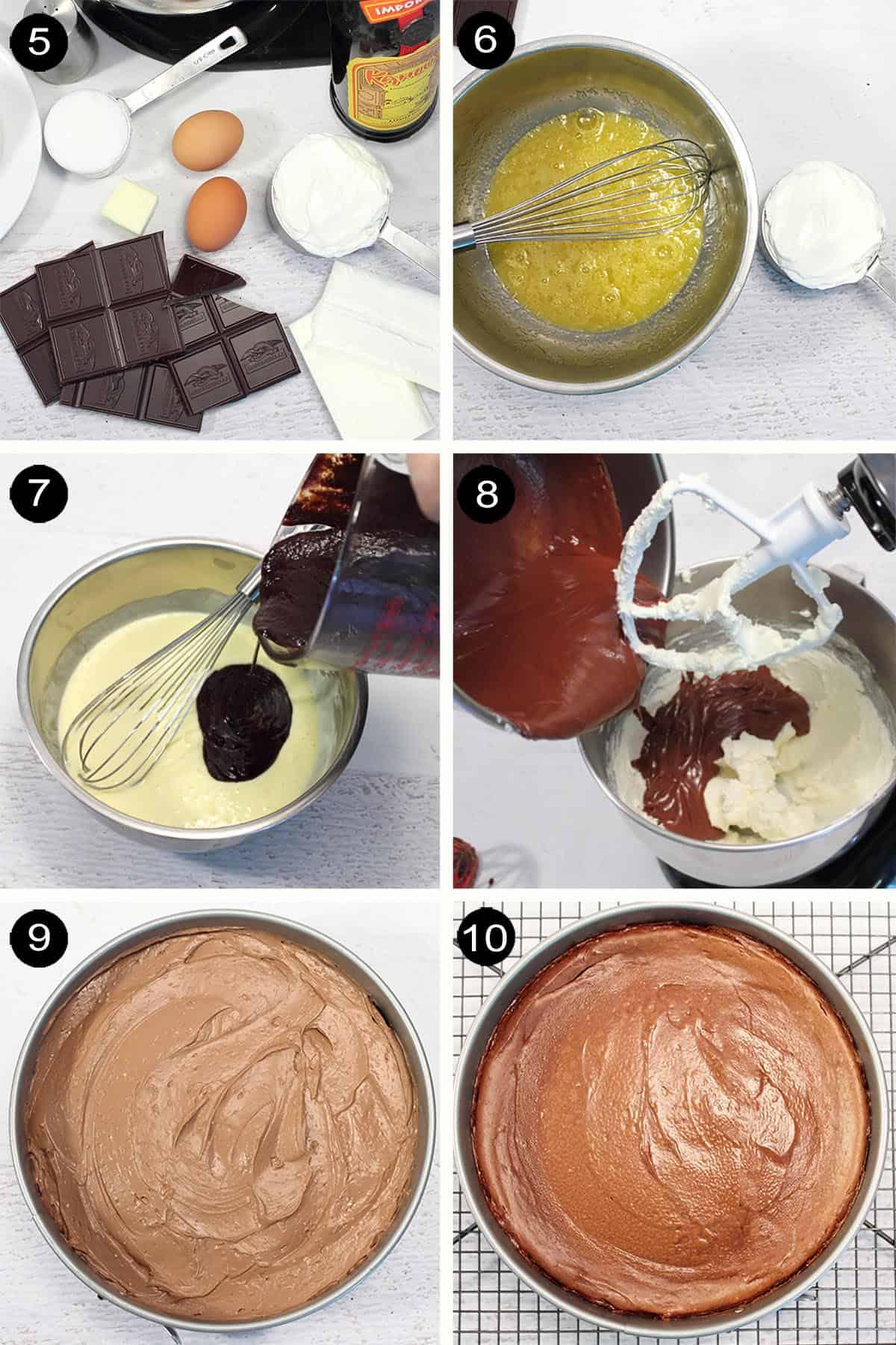 Making cheesecake filling prep.