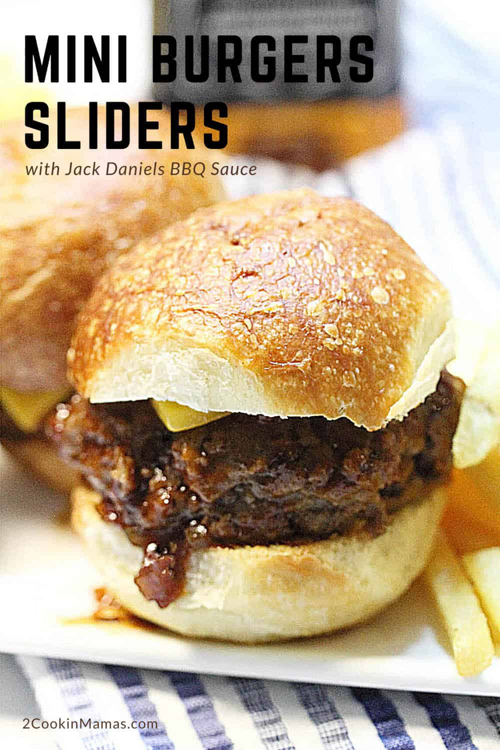 Mini Burgers Sliders with Jack Daniels BBQ Sauce