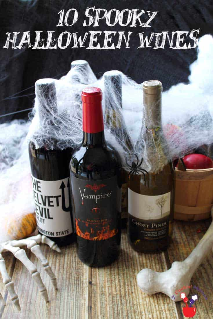 These spooky Halloween wines have names that will scare the pants off you. Some are great, some are average but they're all perfect for the season. #wines #Halloween #spookywines
