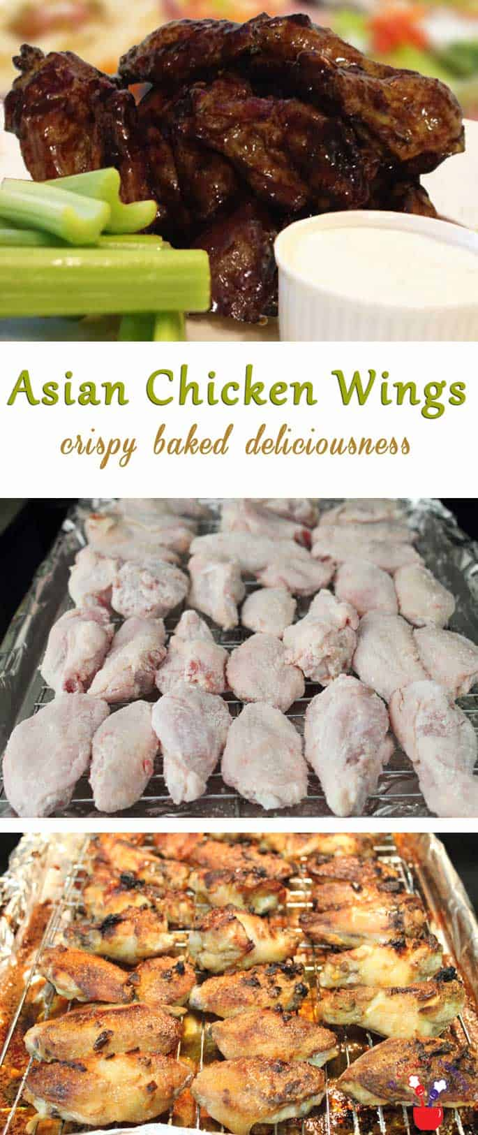 Asian Chicken Wings | 2 Cookin Mamas These Asian Chicken Wings will sate your wing craving & your appetite. Baked instead of fried, with a Asian inspired sauce, they are also super delicious!