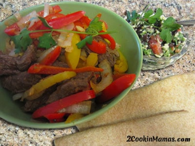 Stir Fry Steak w Black Bean Salad
