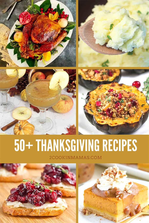 50+ Thanksgiving Recipes Roundup