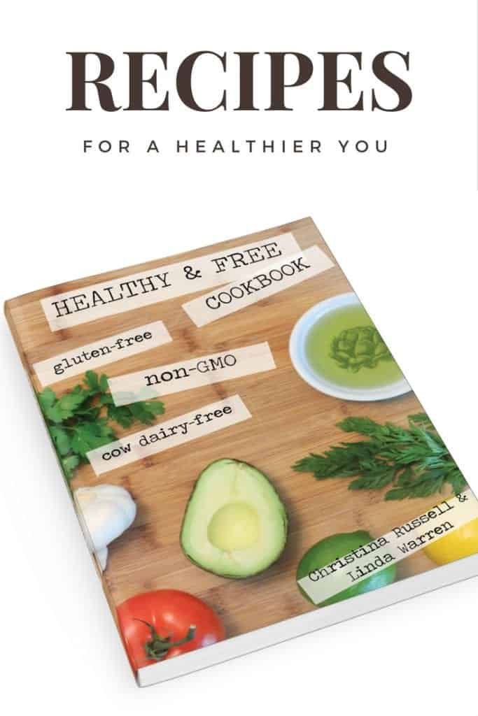 This is the best cookbook for gluten-free, cow-dairy free and non-GMO recipes.