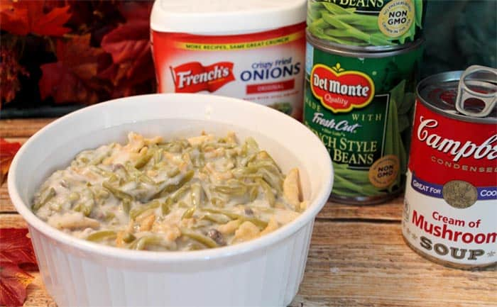 Traditional Green Bean Casserole prep | 2 Cookin Mamas