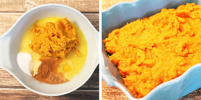 Steps for sweet potato mixture