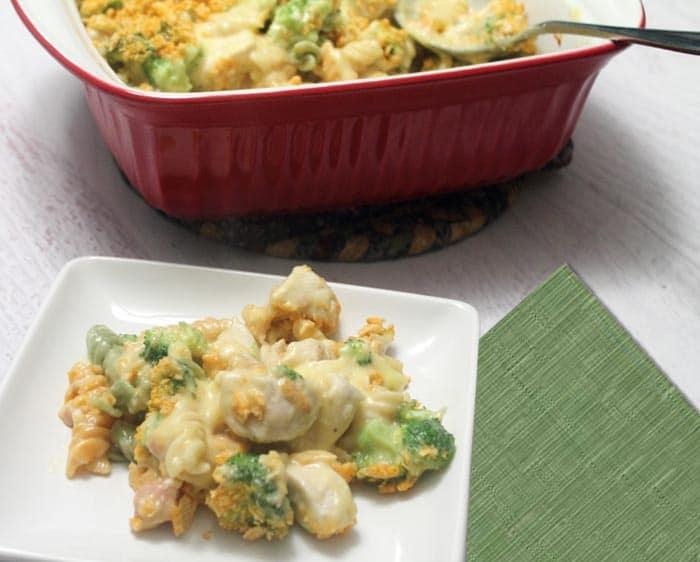 Chicken Broccoli Casserole plated | 2 Cookin Mamas