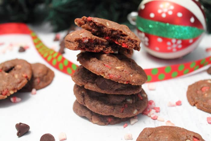 Chocolate Peppermint Pudding Cookies 2 | 2 Cookin Mamas