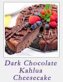 Dark Chocolate Kahlua Cheesecake | 2 Cookin Mamas