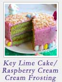 Key Lime Cake with Raspberry Cream Cheese Frosting | 2CookinMamas