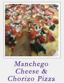 Manchego Cheese and Chorizo Pizza