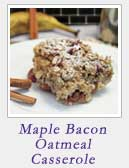 Maple Bacon Oatmeal Casserole|2CookinMamas
