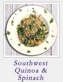 Southwest Quinoa and Spinach