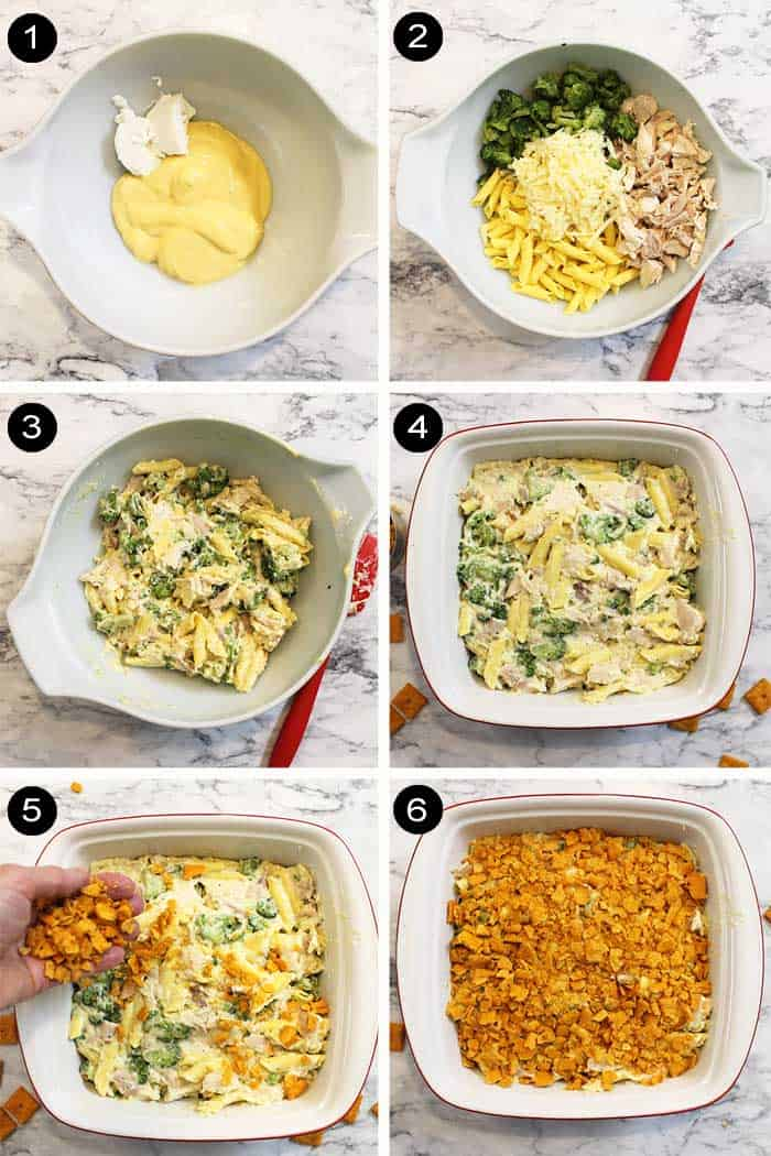 Steps to make Chicken Pasta Bake.