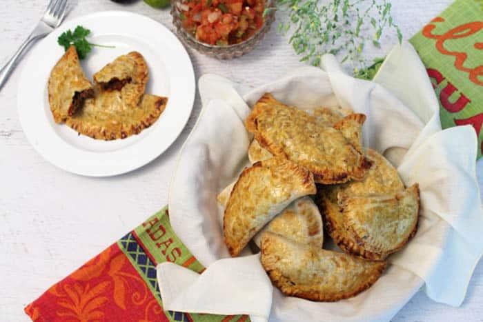 Easy Beef Empanadas overhead   2 Cookin Mamas