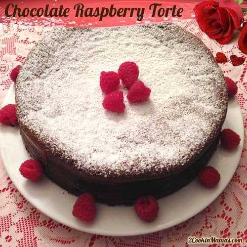 Chocolate Raspberry Torte | 2CookinMamas