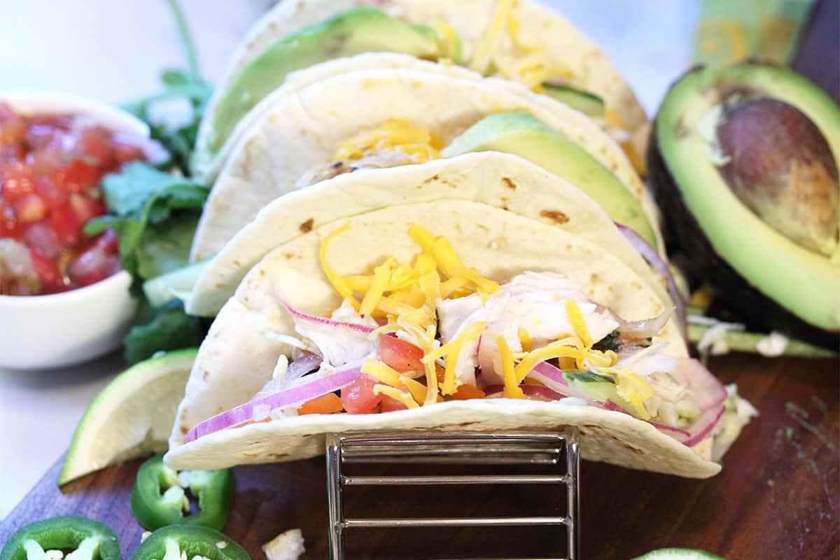 Closeup of inside of taco.
