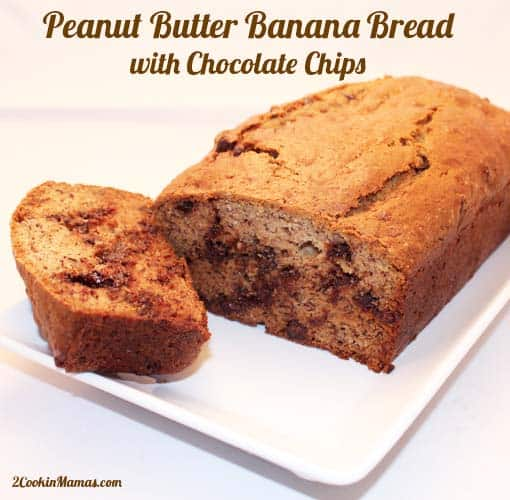 Peanut Butter Banana Bread with Chocolate Chips - 2 Cookin ...