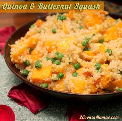 Quinoa and Butternut Squash | 2CookinMamas