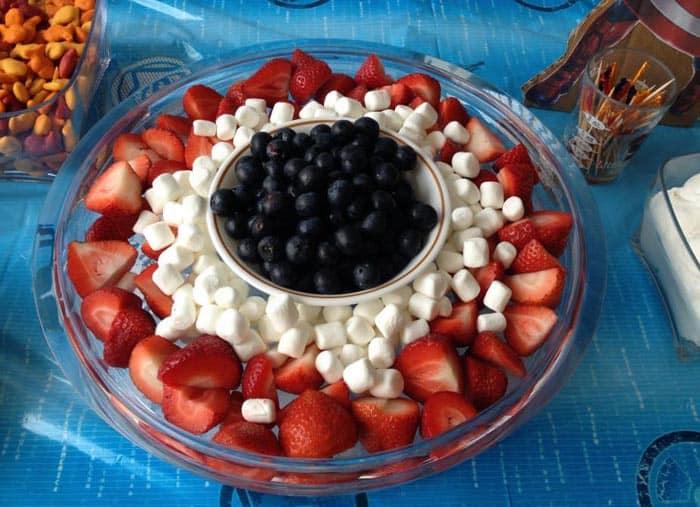 Superhero Birthday Party Captain America snack | 2 Cookin Mamas