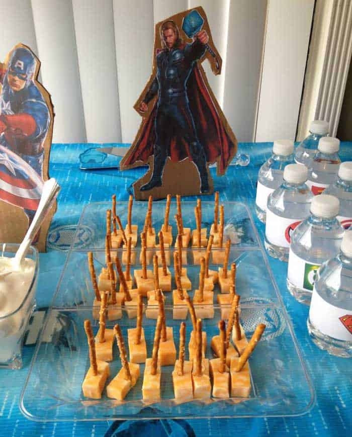 Superhero Birthday Party Thor snack | 2 Cookin Mamas