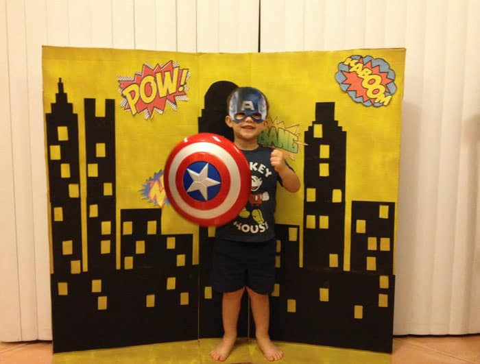 Superhero Birthday Party Photo Booth | 2 Cookin Mamas