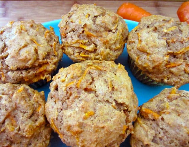 Carrot Muffins closeup|2CookinMamas