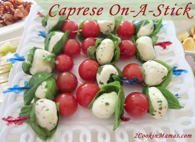 Caprese On A Stick | 2CookinMamas