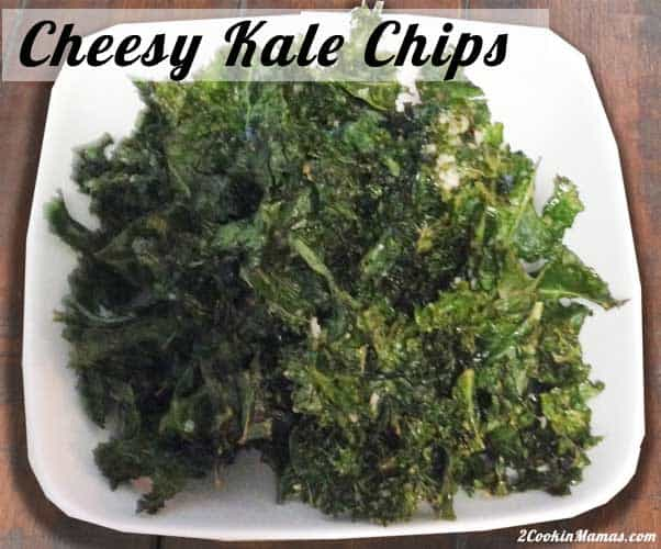 Cheesy Kale Chips | 2CookinMamas