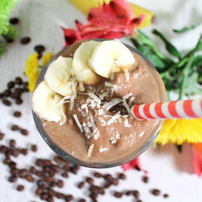 Coffee Lovers Smoothie overhead square