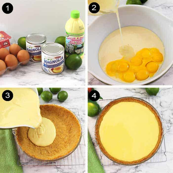how to make key lime pie filling steps