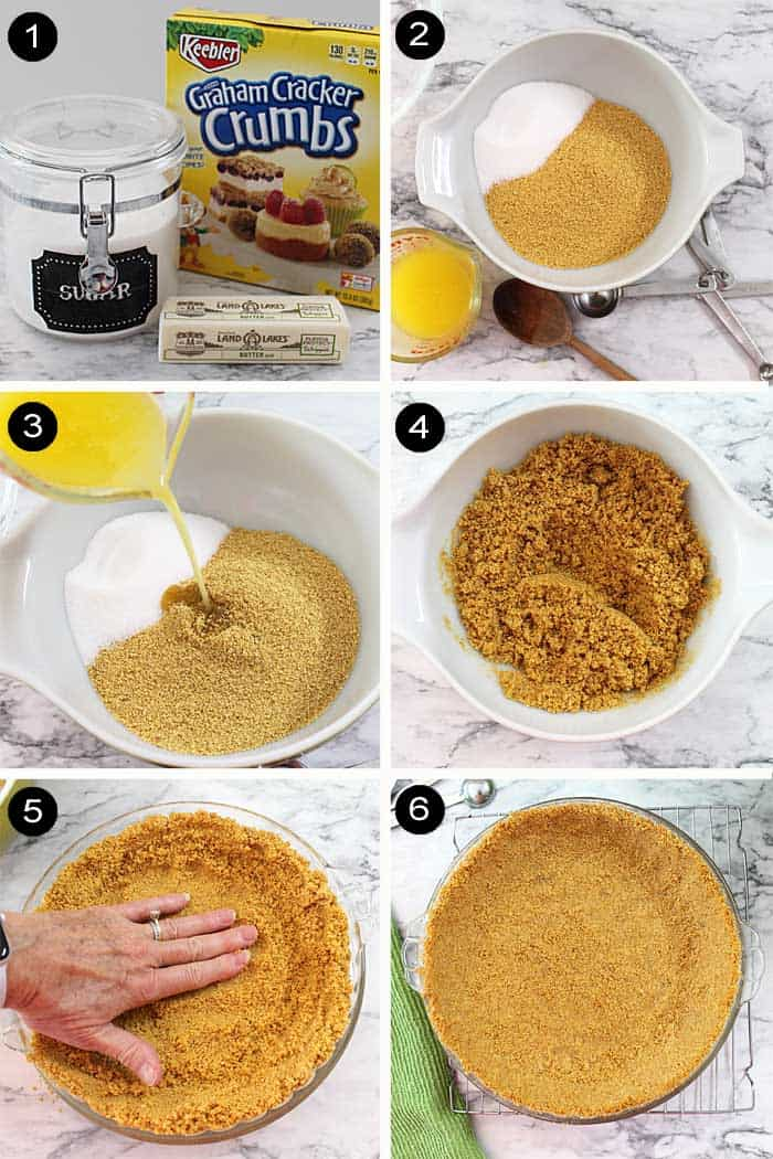 how to make graham cracker crust steps